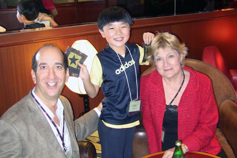 "Chen Bao Qi (""Noodle"") with my friend Hannelore and me back in 2008 in Hong Kong"