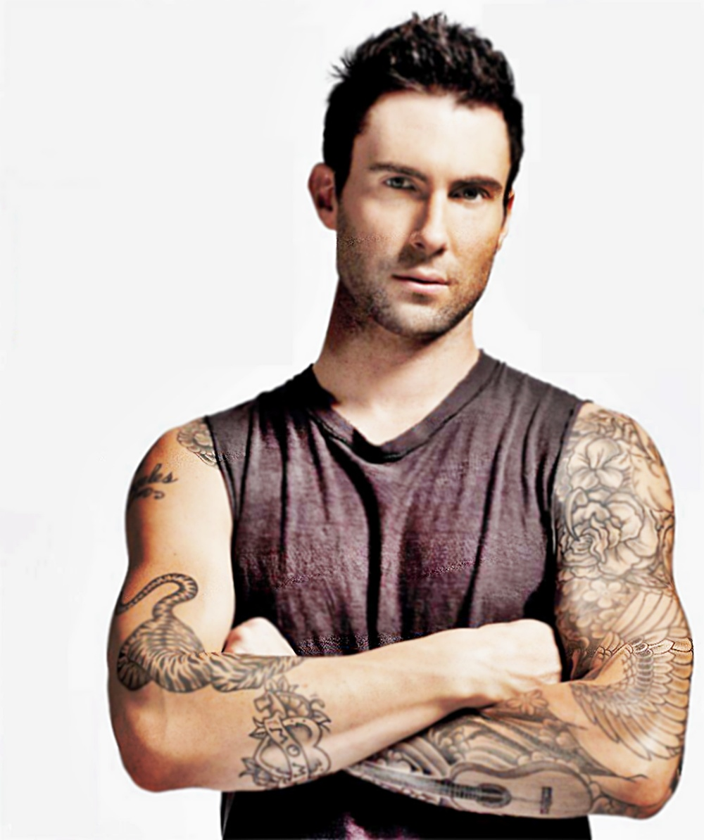 adam levine tattoos - HD1000×1194